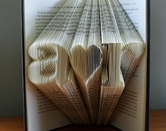 Anniversary Gifts for Husband - Folded Book - Gift for Boyfriend / Girlfriend - Paper Anniversary - Gift for Him - Gift for Her - Boyfriend