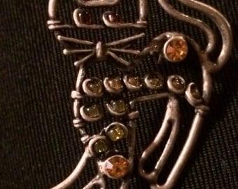 Sale - Vintage Cat Pin Brooch