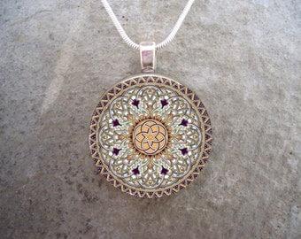 Celtic Jewelry - Glass Pendant Necklace - Celtic Decoration 32