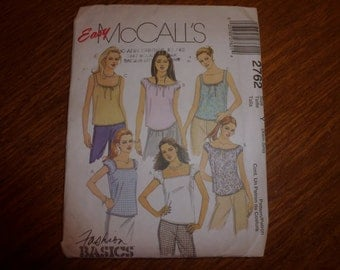 McCall's Pattern 2762 Easy McCalls Size Xsm-Sml Uncut