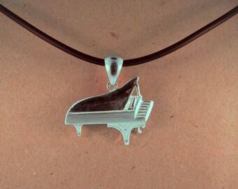 Piano necklace.