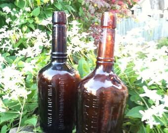 1870s John Wyeth & Brother bottles Philadelphia set of 2