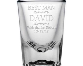 Engraved Best Man Shot Glass