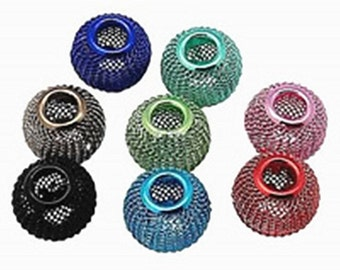 10pc mix color Iron Mesh Beads-9013