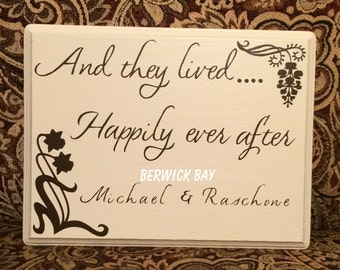 And They Lived Happily Ever After Wall Hanging