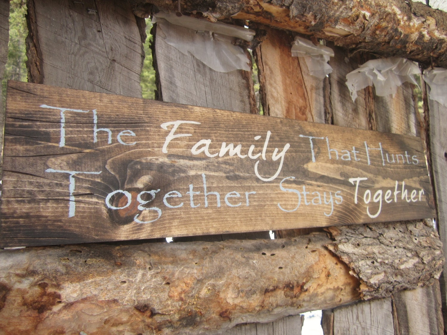 Hunting sign family sign made in montana rustic decor hunting for Montana rustic accents