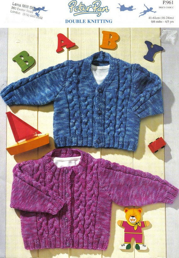 Peter Pan Cable Knit Cardigan Knitting by stitchingbynumbers