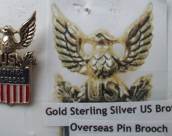 WWII Brother Overseas sterling pin made by Coro