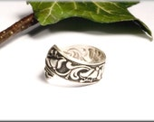LILY, ring from 800 silver made a tie clip