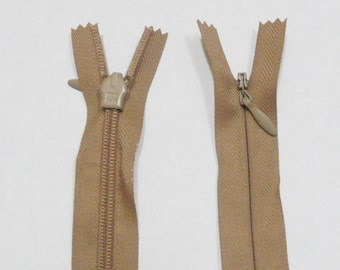 Beige OPTI Invisible Concealed Zip 55cm 22 Inch Long (Equivalent to YKK)