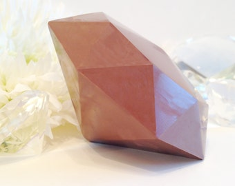 Giant Solid Milk Chocolate Diamond - Diamond Shaped Candy - anniversary gift, friend gift