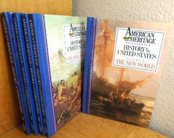 Books American Heritage Illustrated History of the United States, 5 Volume Set, Hardbound Books, Set of 5