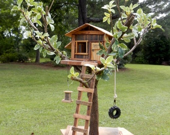 Tree House Dreams Bird House Functional or Collectable