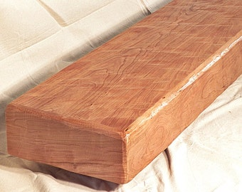 Extra Deep Rustic Cherry Fireplace Mantel Mantle Beam Shelf A 84 x 12 x 5 Made in USA