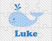 Little Whale Personalized Jigsaw Puzzle - 12 or 100 pieces