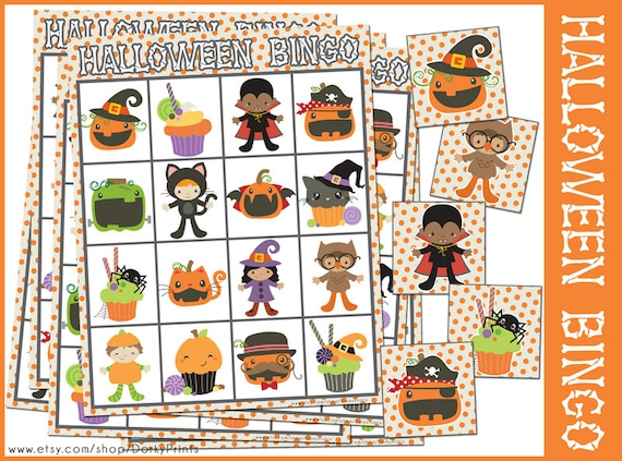 Halloween Bingo Game Printable Preschool and Kindergarten