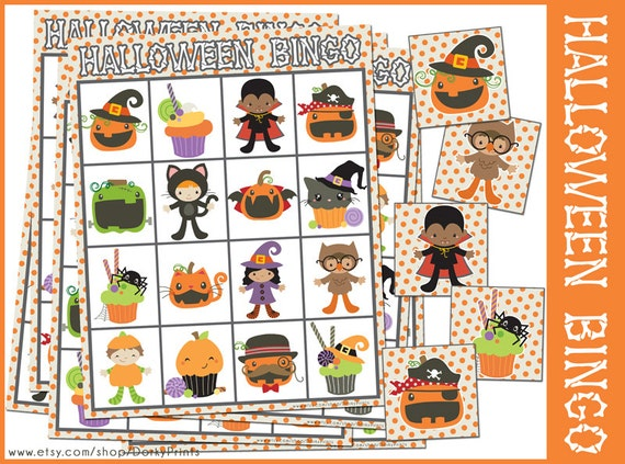 halloween bingo game printable preschool and kindergarten bingo halloween party printable - Preschool Halloween Bingo