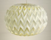 PEBBLE: Origami Paper Table Lamp / Floor Lamp / Pendant / Lamp Shade - White