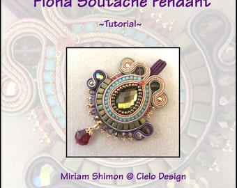 Fiona Soutache Pendant- Tutorial