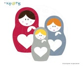 Russian Matryoshka Doll PDF applique template