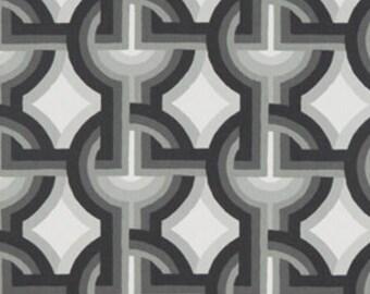 Black Grey White Geometric Upholstery Fabric On Sale