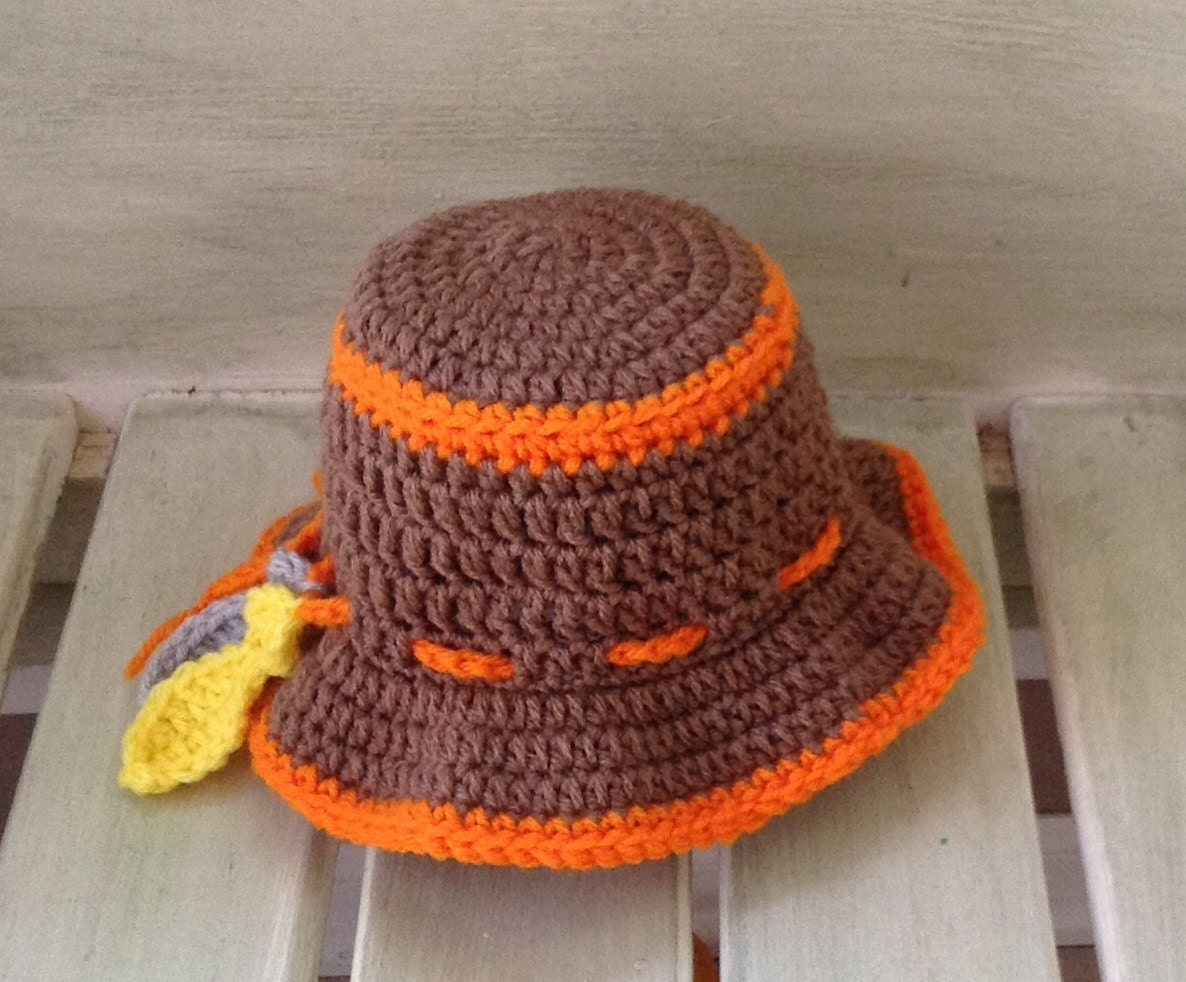 Crochet fishing hat baby boy ready to ship photo prop for Baby fishing hat