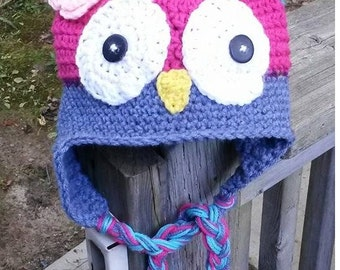 Owl hat any size/color