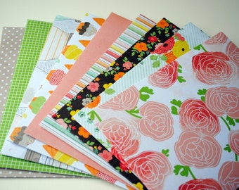 Flowers and Ice Cream Set of 9 Handmade Envelopes by Paper Hearts Station on Etsy