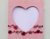 Cyberweek Deal Picture Frames for 7 Dollars Pink Heart BeJeweled Picture Frame