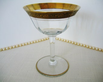 """Vintage TIFFIN MINTON Liquor Cocktail Goblet Pattern No 14196 Crystal Discontinued 1930s-1940s  5"""" Wine Glass Gift"""