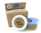 Blue Milk Paint - Non-toxic All Natural Paint Perfect for Unfinished Wood Projects- Federal Blue