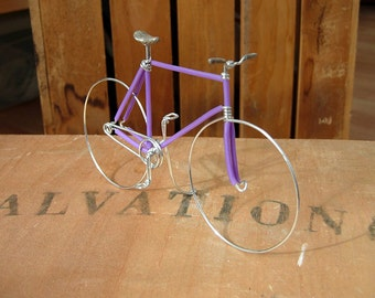 SALE Purple Fixed Gear Wire Bike