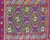 "VINTAGE Turkish Kilim Rug Carpet, Handwoven Kilim Rug,Antique Kilim Rug,Decorative Kilim, Natural Wool  41,3"" X 59"""
