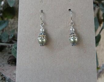 Despoine's Light Green Pearl Earrings