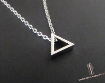 SALE 10% OFF: Cute tiny Triangle Necklace Pendant Necklace Jewelry Gift