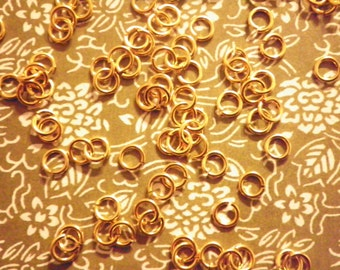 72 Goldplated 6mm Jump Rings