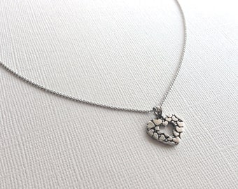 Forever Heart Necklace in Sterling Silver, Heart Jewelry, Love Jewelry