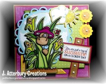 OOAK---A Ray of Sunshine Card + Matching Envelope Box