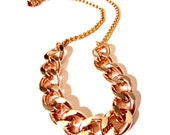 Chunky Chain Necklace. Rose Gold Necklace. Chain Necklace. Chain Link Necklace.