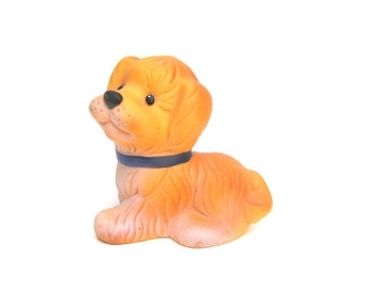 Soviet vintage toy dog Vintage squeaking dog Vintage squeaking toy Old toys collectible Toy dog Rubber dog Rubber toys Retro toys