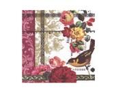 Napkin serviette for decoupage x 1. No. 1187 Bird Rose