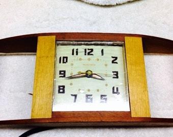 Mid century Handmade telechron clock