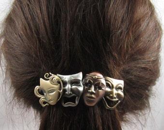 Masks French Barrette 80mm Theater Mardi Gras