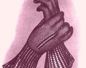 Vintage 1935 Monte Carlo Lace Gloves 390 PDF Digital Crochet Pattern