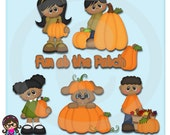 Fall Pumpkin Patch Kids AA Clip art  Clipart Graphics  Commercial Use