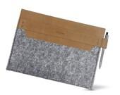 "W1025 ipad Case ""100% Wool felt & Leather"""