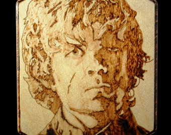 Game Of Thrones - Peter Dinklage Portrait Woodburned Plaque