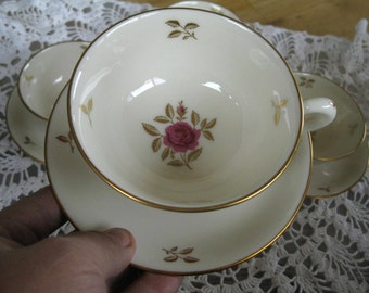 Lenox Rhodora Gold Backstamp, Teacup and Saucer, ,Near Mint, ONE set (two pieces)
