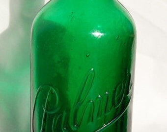 Deep emerald GREEN original PALMER PERFUME exquisitely beautiful antique bottle - from 1800's
