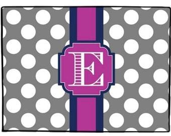 Door Mat Personalized Doormat Monogrammed Floor Mat Polka Dots Rug Welcome  Mat Custom Design